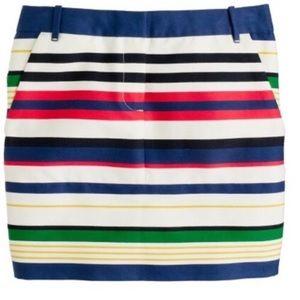J. Crew Striped Mini Skirt Size 00